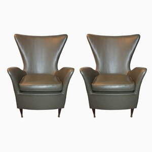 Midcentury Armchairs by Gio Ponti, 1950s, Set of 2