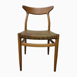 Rustic W2 Side Chair by Hans J. Wegner, 1960s