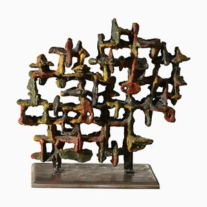 Glazed Ceramic Sculpture by Marcello Fantoni, 1970s