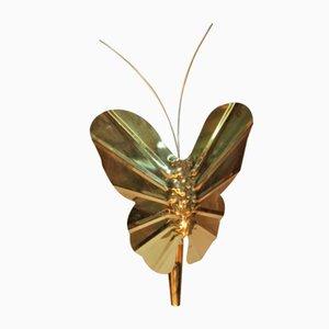 Vintage Brass Butterfly Sconce, 1970s