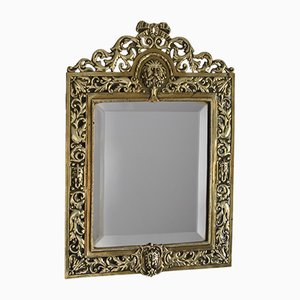Antique Brass and Bevelled Glass Wall Mirror, 1840s