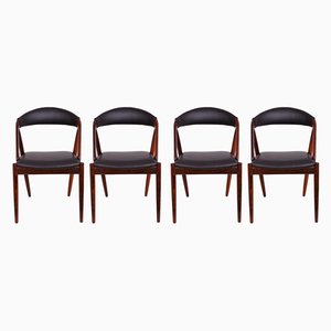 No. 31 Rosewood Dining Chairs by Kai Kristiansen for Schou Andersen, 1960s, Set of 4