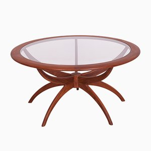 Round Teak Spider Coffee Table by Victor Wilkins for G-Plan, 1960s