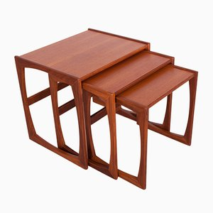 Teak Nesting Tables by Victor Wilkins for G-Plan, 1970s