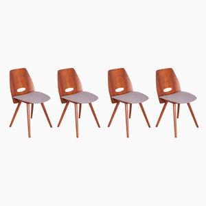 Tschechoslowakische Vintage Lollipop Stühle von F. Jirak für Tatra, 1960er, 4er Set