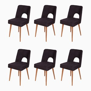 Polish Shell Chairs, 1960s, Set of 6