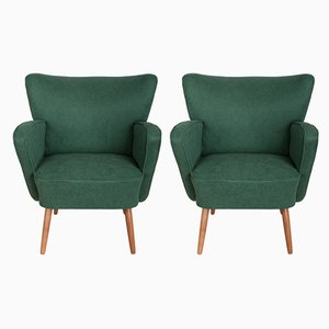 Mid-Century Club Armchairs, 1960s, Set of 2