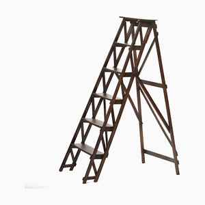 Folding Wooden Ladder, 1930s