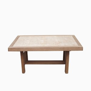 Vintage Art Deco Oak Dining Table by Charles Dudouyt