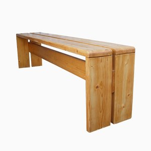 Mid-Century Pine Bench by Charlotte Perriand, 1960s