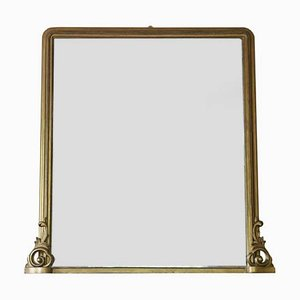 Antique Victorian Gilded Mirror, 1850s