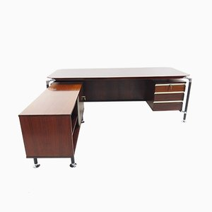 Rosewood President Desk by Ico Luisa Parisi for M.I.M. Roma, 1960s