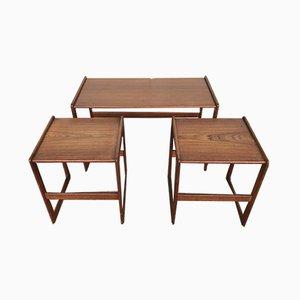 Tables Gigognes par Arne Hovmand-Olsen pour Mogens Kold, années 60, Set de 2
