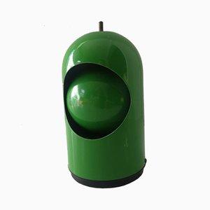 Lámpara de mesa Eclipse vintage en verde de Joe Colombo, años 60