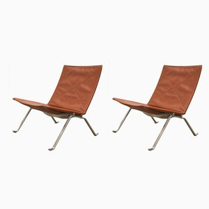 PK22 Lounge Chairs by Poul Kjærholm for Fritz Hansen, 2000s, Set of 2