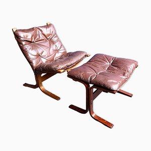 Siesta Sessel & Hocker von Ingmar Relling für Westnofa, 1970er