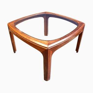 Table Basse avec Plateau en Verre de G-Plan, années 70
