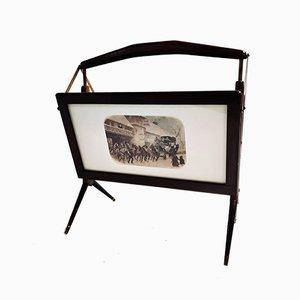 Revistero Mid-Century de palisandro de Ico Luisa Parisi, años 50