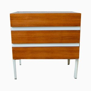 Vintage Teak Veneer and White Melamine Dresser from Interlübke, 1970s