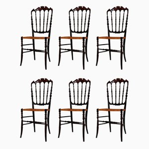 Mid-Century Chiavari Dining Chairs by Giuseppe Gaetano Descalzi, Set of 6