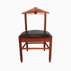 Mid-Century Leatherette and Teak Valet Chair from Fratelli Reguitti, 1960s
