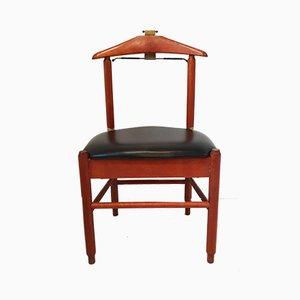 Mid-Century Stummer Diener Stuhl aus Teak & Kunstleder von Fratelli Reguitti, 1960er