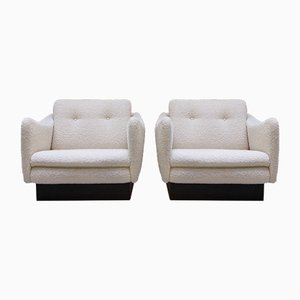 Teckel Club Chairs by Michel Mortier for Steiner, 1960s, Set of 2