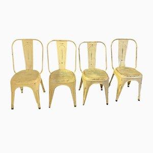 Mid-Century Esszimmerstühle aus Metall, 4er Set