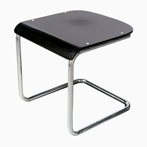 Bauhaus Black H-22 Stool by Mart Stam for Mauser Werke Waldeck, 1950s