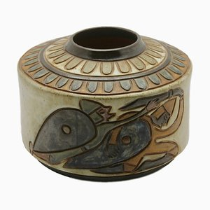 Glazed Stoneware Vase by Antoine Dubois for Guerin Bouffioulx, 1930s