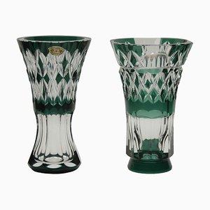 Belgische Kristallvasen von Val Saint Lambert, 1950er, 2er Set