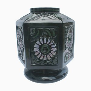 Belgian Glass Scailmount Vase by Henri Heemskerk, 1930s