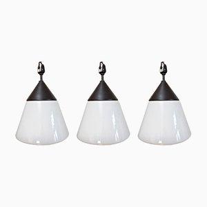 Lámparas de techo vintage de H. Bredendieck para Kandem. Juego de 3