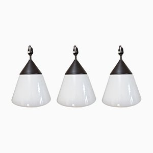 Vintage Ceiling Lamps by H. Bredendieck for Kandem, Set of 3