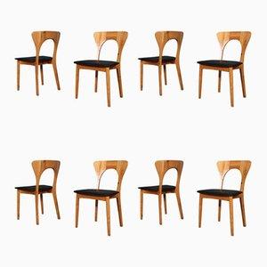 Peter Esszimmerstühle aus Kiefernholz von Niels Koefoed Møbelfabrik, 1960er, 8er Set