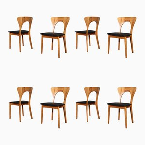 Peter Oregon Pine Dining Chairs by Niels Koefoed Møbelfabrik, 1960s, Set of 8