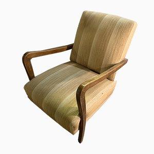 Italienischer Mid-Century Sessel mit Gestell aus Nussholz