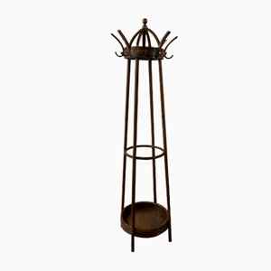 Antique Beech and Walnut Coat and Umbrella Rack from Gebrüder Thonet Vienna GmbH