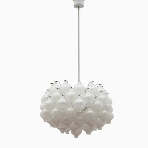 Large Austrian Glass Tulip Chandelier from Kalmar, 1963
