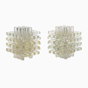 Lámparas de mesa de cristal de Murano de Albano Poli para Poliarte, años 70. Juego de 2
