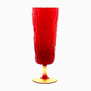 Italian Red Glass Vase, 1970s