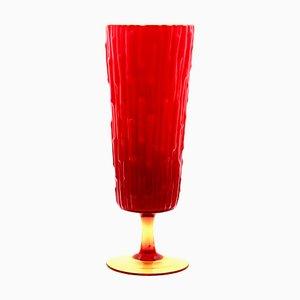 Rote italienische Glasvase, 1970er