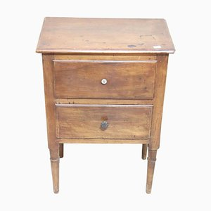 Antique Walnut Nightstand, 1780s