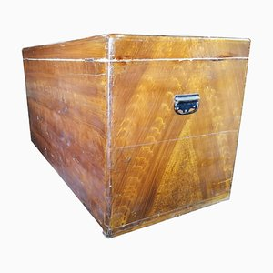Antique Lacquered Wood Trunk