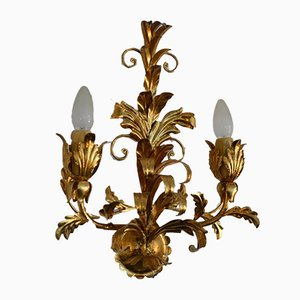 Italian Gilded Metal Sconce, 1970s