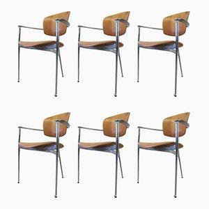 Esszimmerstühle von Josep Llusca für Andreu World, 1980er, 6er Set