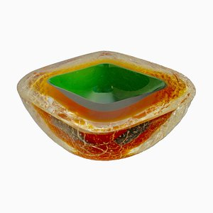 Murano Glass Corroso Bowl by Alfredo Barbini, 1950s