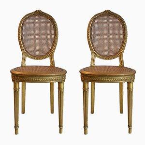 Antike französische Esszimmerstühle, 2er Set