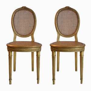 Antique French Dining Chairs, Set of 2
