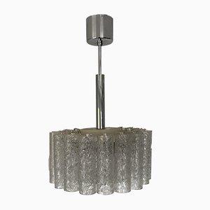 Lámpara colgante Mid-Century de cristal de hielo de Doria Leuchten